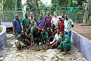 ZNA keeper team after two long days working hands-on with all the zoo's crocodiles. Photo: Matthew H. Shirley