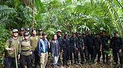 Widodo Ramono with Javan rhino field staff at the Ujung Kulon National Park. Photo: IRF