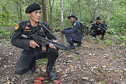 Anti-poaching patrol in Thap Lan national park. Photo: Ann & Steve Toon