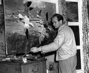 Sir Peter Scott painting. Photo: WWT