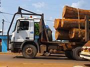 Logging truck in Lastourville, Gabon. Photo: Nathalie van Vliet