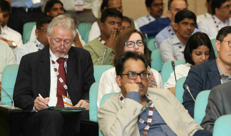 Photo: Uwe Ohls (left) attending the 3AMC in New Delhi (Credit GTF)