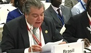 Brazil's Environment Minister José Sarney Filho announced the Bonn Challenge pledge. Photo: © IUCN