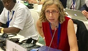IUCN Director Genral Inger Andersen at the CBD COP13 in Cancun, Mexico. Photo: © IUCN.