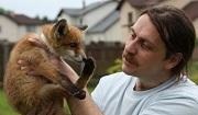 Dmitry Telnov at his animal rescue centre in Bauska, Latvia, 2010.Photo: K. Creke
