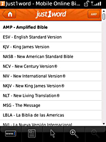 blackberry bible app screen Search