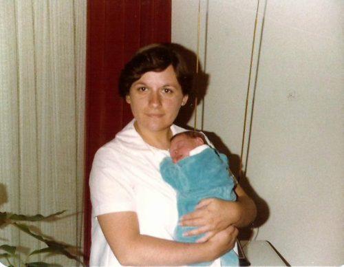 Juillet 1979... Céline est maman!