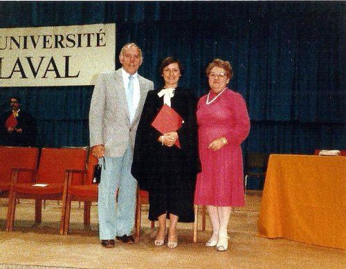 Juin 1984, graduation à la maîtrise
