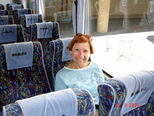 30 août 2007, dans l'autobus nous menant à notre hôtel à Porto au Portugal