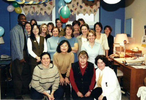 Céline et ses collègues de travail de l'hôpital du Sacré-Coeur.