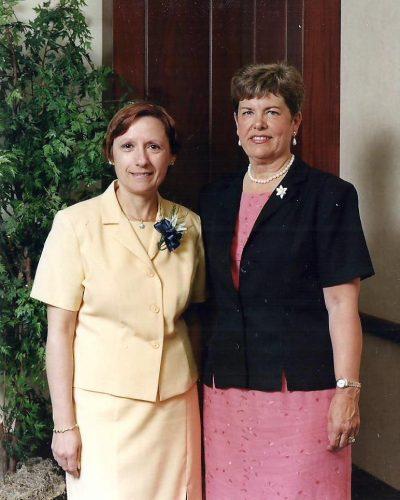 Céline et Louise Gagnon-Hotte, sa patronne à l'Hôpital du Sacré-Coeur