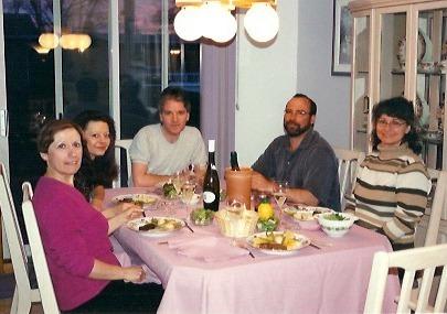 Céline, Diane et Guy Boisvert, Yves et Martine