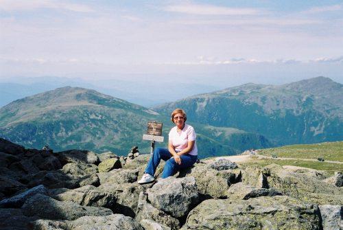 Céline, à la mi-août 2003, dans les White Mountains au New Hampshire...