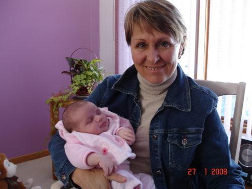 Chloé et ma soeur Louise le 27 janvier 2008