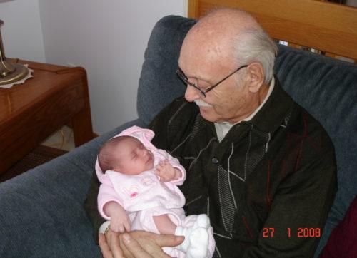 Chloé et mon père le 27 janvier 2008