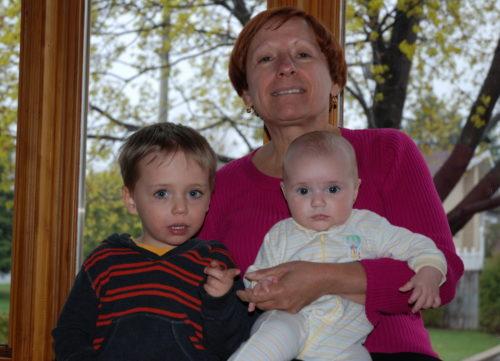 Céline avec Félix et Chloé