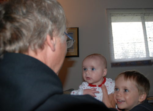 3 mai 2008, Chloé et Félix me regardant!