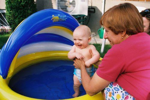 Félix... à la piscine