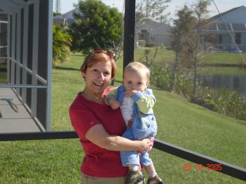Noël 2005 : Céline et Félix à Cape Coral en Floride