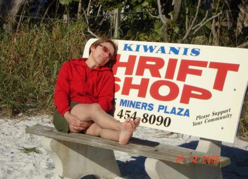 Noël 2005 : Céline à Cape Coral en Floride