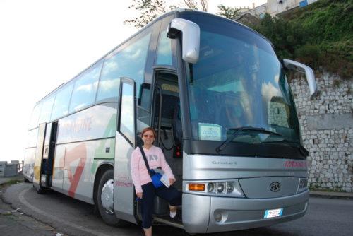 Céline à l'autocar, Italie, 7 octobre 2008