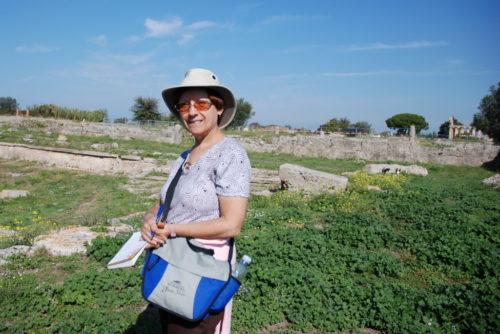 Le 8 octobre 2008, Céline est à Paestum, Italie