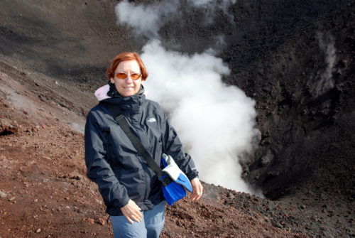 10 octobre 2008... lors de l'ascension du volcan Etna en Sicile.