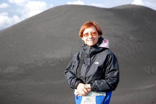 2008, au sommet ou presque de l'Etna en Sicile