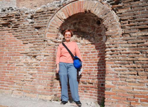 Céline au théâtre antique de Taormina en Sicile
