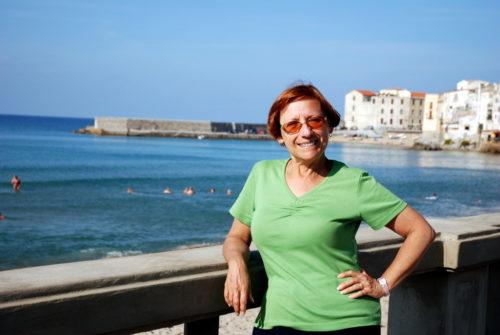 19 octobre Céline en bord de mer à Cefalù