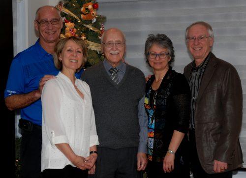 Daniel, Louise, papa, Martine et moi, en 2015