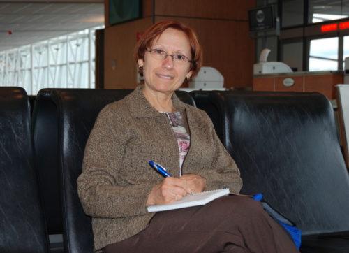 8 octobre 2009... Céline à l'aéroport de Montréal