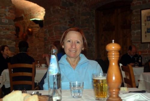 Dîner à Florence en Italie, le 18 octobre 2009