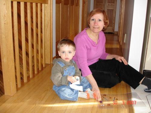 30 mars 2007, Félix en visite chez Mamie.