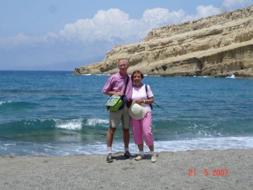 21 mai 2007, plage de Matala, Crète, Grèce