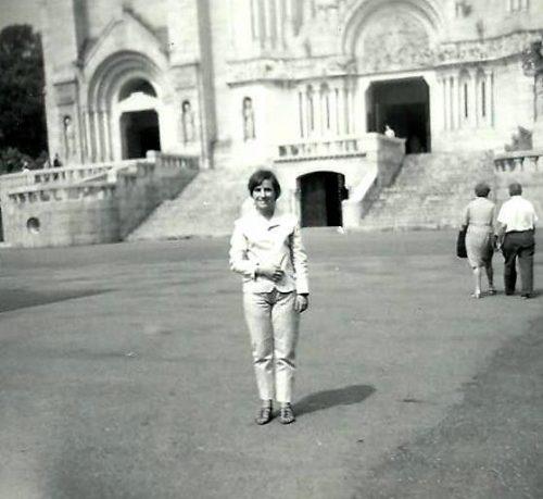 Céline à la basilique de Sainte-Anne-de-Beaupré