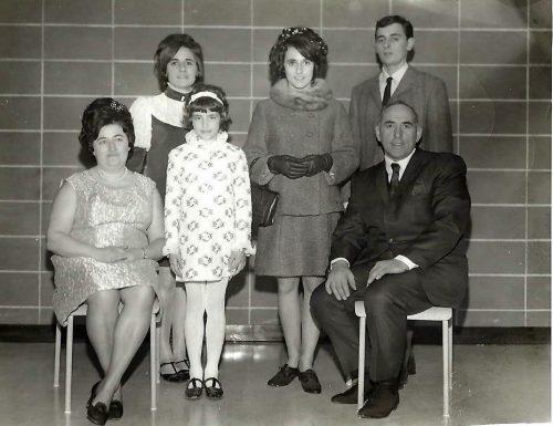 La famille Pichette lors du mariage de Micheline