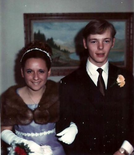 Le 23 mai 1970, Céline avec son premier amoureux, Jean-Pierre