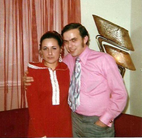 Noël 1971 Céline avec son cousin Jean-Claude