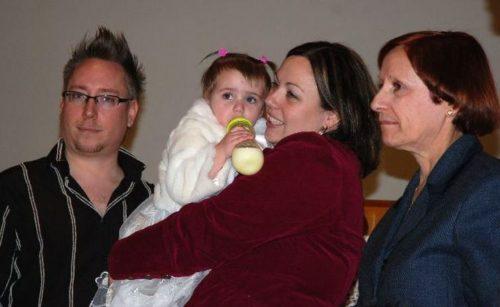 10 janvier 2010... baptême de Chloé