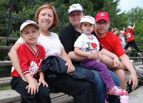 Toute la famille au baseball, le 12 juin 2010
