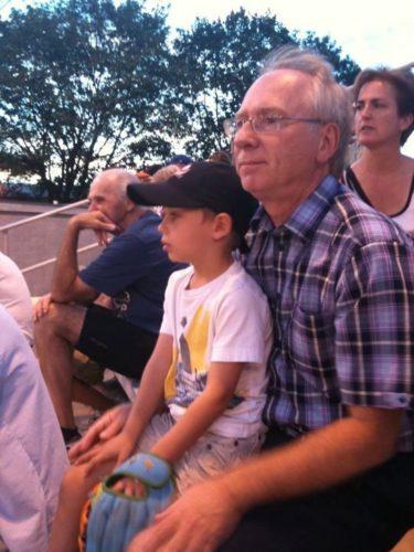 Le 23 juillet 2010, Félix et moi nous rendons à un match des Orioles de Montréal au parc Ahuntsic