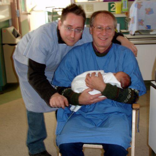 Marc-André, moi et Félix, le 16 janvier 2005