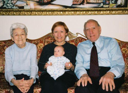 Céline avec Félix chez ses parents