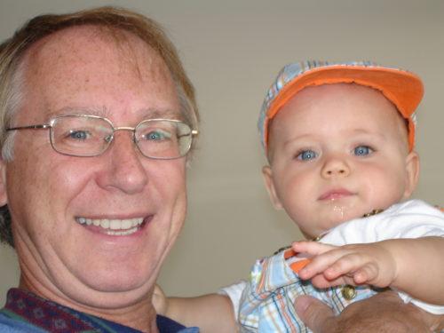 Nous voici, Félix et moi en septembre 2005