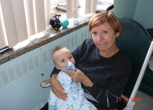 17 octobre 2005 Félix et Céline à l'hôpital de Saint-Jérôme
