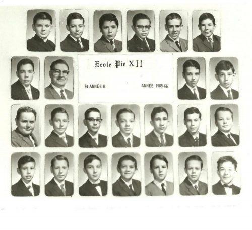 Classe de 7e année sous la férule de Monsieur Blondin.