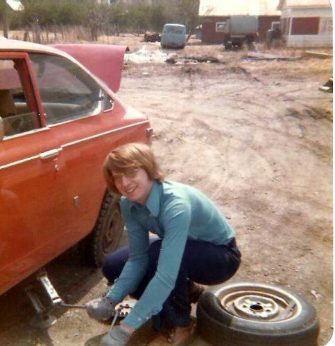 1973-1974 ma première voiture, ma première crevaison