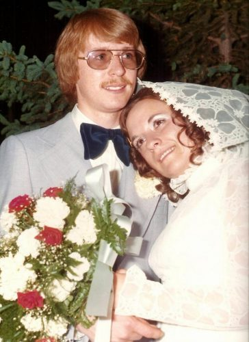 Le jour de notre mariage, Céline et moi