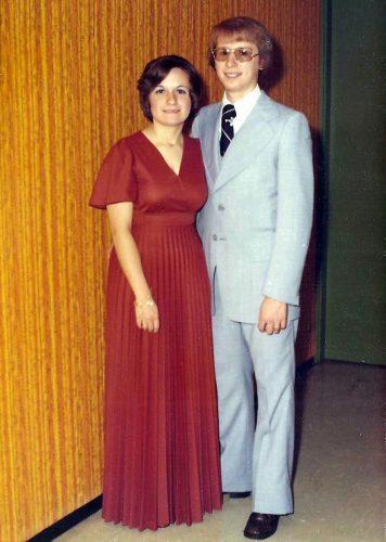 Céline et moi en 1975.